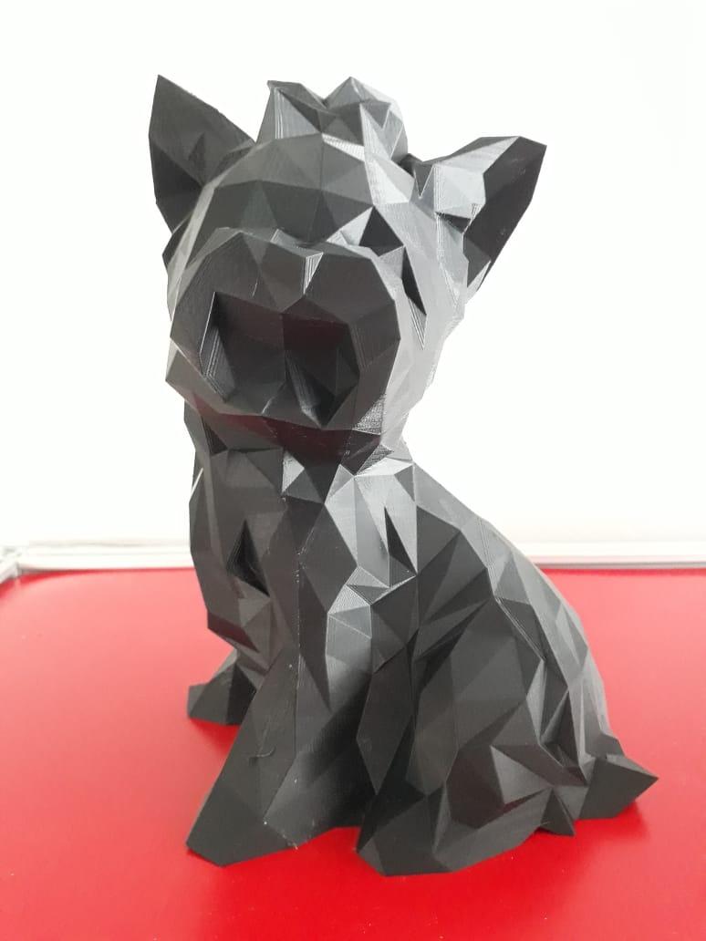 Cachorro Yorkshire - Animais de estimação - Impresso em 3D