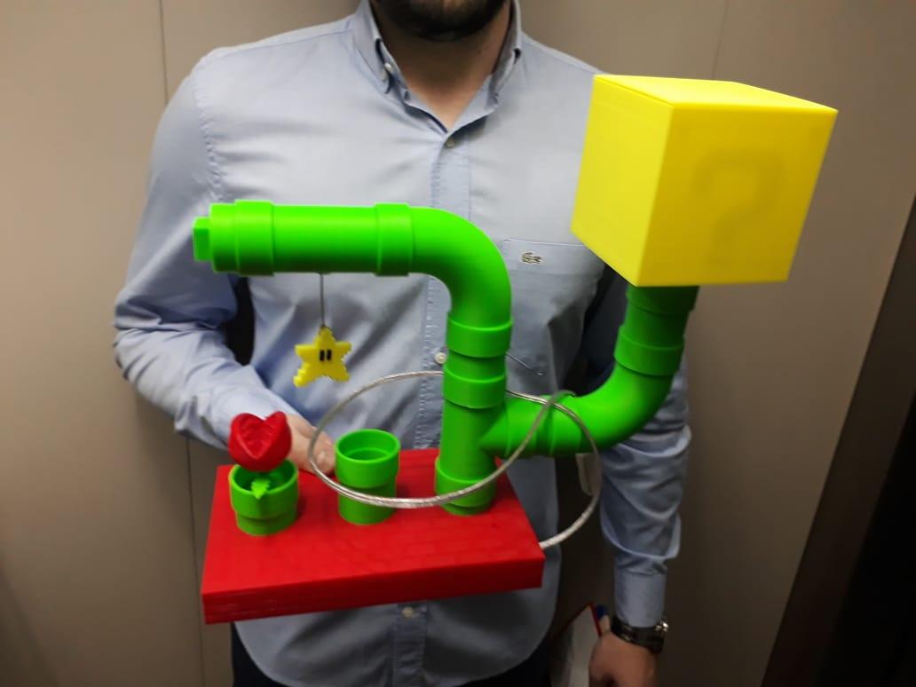 Luminária Geek - Mario - Impressão 3D